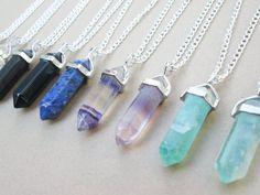 CLEARANCE // Purple Fluorite Necklace // Quartz by qwelqwel
