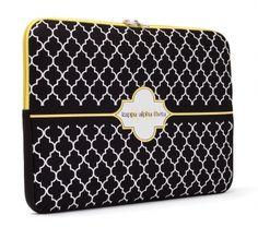 Kappa Alpha Theta Laptop Sleeve $22.00 #theta #sorority #kappaalphatheta #greek #college #preppy #laptopsleeve #gift