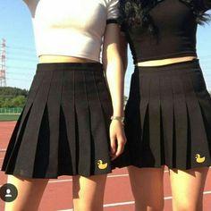 Cute cartoon tall waist students pleated skirt