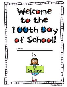 Here's a packet for the 100th day of school. Includes a 100-board mystery picture, measurement fun with 100 centimeters, ways to make 100 with equations, and a writing activity.