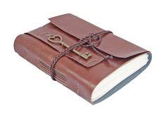 Light Brown Vegan Faux Leather Journal, Vegan, Light Brown Faux Leather Journal, Travel Journal,…