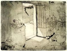 Eva Pietzcker presents her art work (intaglio, woodblock prints, screen prints) and the process of printmaking. Francisco Goya, Illustrations, Illustration Art, Drypoint Etching, Observational Drawing, Small Drawings, Black And White Drawing, Urban Sketching, Texture Art