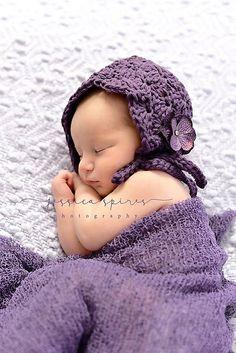 Ravelry: Lacy Shells Baby Bonnet pattern by Crochet by Jennifer