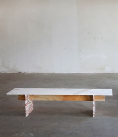 Marble Bench By Muller Van Severen Industrial Furniture, Outdoor Furniture, Outdoor Decor, Coffee Table Design, Furniture Inspiration, Dining Bench, Entryway Tables, Furniture Design, Contemporary