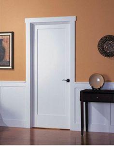 1 Panel Primed Flat Mission Shaker Stile Rail Solid Core Wood Doors Door Slabs | eBay