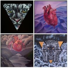 #art #artwork #painting #drawing #oil #acrilic #nature #cat #panther #heart #unciauncia