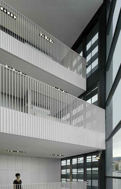 Wood Handrail, Staircase Handrail, Stair Railing, Staircase Design, Balcony Grill Design, Balcony Railing Design, Interior Handrails, Interior Stairs, French Balcony