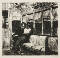Edward Hopper (American, 1882-1967) Night on the El Train, 1918 Etching on paper Purchased through the gift of James Junius Goodwin, 1957.251