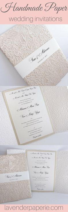 ♥ INVITATION LISTING COLORS ♥This uniquely inspired invitation is printed on white shimmer cardstock backed by latte shimmer cardstock and nestled neatly in