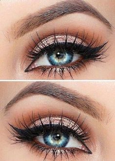 Eye Makeup - Makeup Artist ^^ | pinterest.com/... Makeup Fleek Rose Gold Feline Liner Lashes More - Ten (10) Different Ways of Eye Makeup