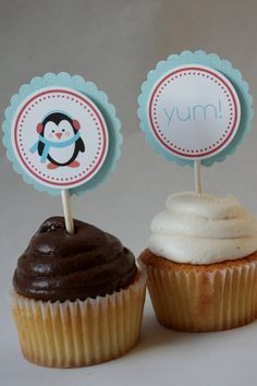 penguin cupcake toppers                                                                                                                                                                                 More