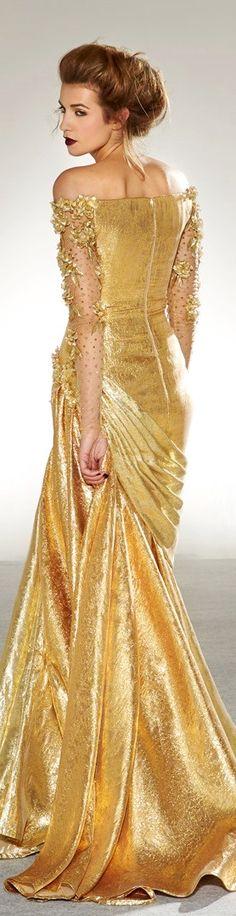 White and Gold Wedding. Gold Bridesmaid Dress. Elegant and Glamorous. Georges Chakra 2013