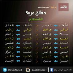 بالعربي# فوائد# لغة#