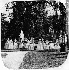 1860s. Girls academy group possibly.