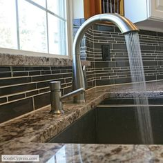 Piano Accent Glass Rythym featured on the Linear Glass Mosaics page from South Cypress.