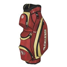 75015f7550 San Francisco 49ers NFL Cart Bag by Wilson. Buy it   ReadyGolf.com Nfl