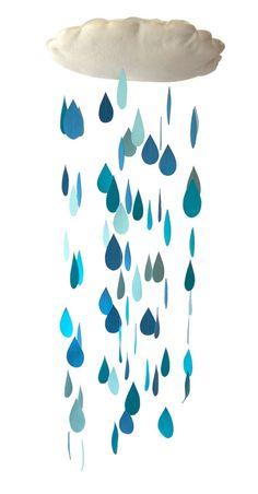 Posso estar virando a maluca da chuva, mas estou apaixonada por móbiles de rainy days. Fazer o quê?