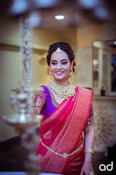 A Shopzters Exclusive - A Classic Bridal Shoot With The New Bride-To-Be in Town - Actress Suja Varunee South Indian Weddings, South Indian Bride, Saree Wedding, Wedding Dresses, Wedding Wear, Silk Sarees, Bandhani Saree, Kanjivaram Sarees, Saris