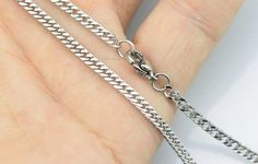 20pcs 18inch 2.5mm 316L stainless steel necklace four by aliyafang, $37.00