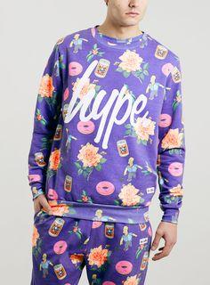 Hype x The Simpsons bowling homer Sweatshirt* - Men's Hoodies & Sweatshirts - Clothing - TOPMAN