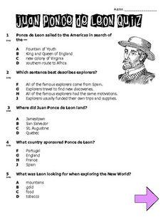 FREE Juan Ponce de Leon Quiz