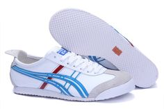 Asics Onitsuka Tiger Mexico 66 Mens White Chlorine Blue Red