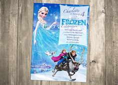 Ride on over to a frozen celebration in honor of...Disney's Frozen Birthday Invitation  PRINTABLE by CustomPartyDecor, $9.99