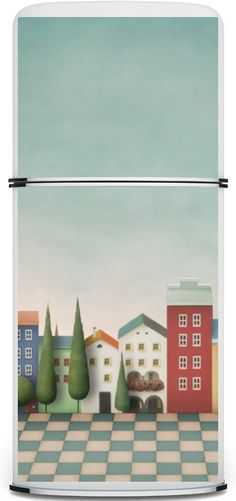 LARGE refrig magnet. This one is called; First Street. Price varies according to size of fridge from, $60-$110