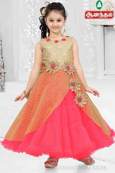 New Collections for GIRLS READYMADE @ #Anantham #Silks Kids Frocks, Frocks For Girls, Gowns For Girls, Girls Dresses, Baby Girl Fashion, Kids Fashion, Kids Party Wear Dresses, Kids Lehenga, Kids Gown