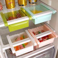 quality plastic kitchen refrigerator storage rack fridge freezer shelf holder pull-out drawer organiser space saver. Category: Home & Garden. Subcategory: Home Storage & Organization. Product ID: