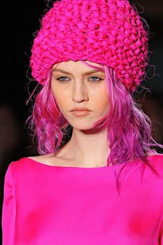 About Face and Fashion | The color story of pink in fashion | sexy girl in pink dress and woolen hat | #thejewelryhut