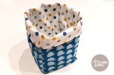 Couture | Tutoriel Voici un tutoriel, pour les débutantes comme moi, pour réaliser un joli panier réversible. Il existe plusieurs techniques différentes, celle-ci est très simple à réaliser. Selon le tissu que vous choisissez le panier sera plus ou moins rigide (coton, jute, lin…) #couture #panier #tissu