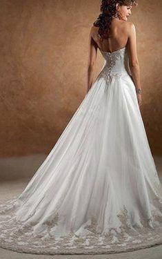 - Tüll Herz-Ausschnitt Schnürrücken A-Linie elegantes & luxuriöses volle länge ärmelloses Brautkleid