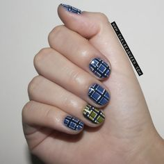 Marc by Marc Jacobs Plaid Inspired nails www.chelseaqueen.com