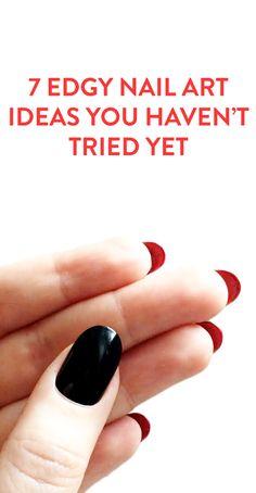 7 edgy nail art ideas