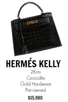hermes women's black gulliver kelly retourne 28 - black