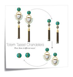 """Totem Tassel Chandeliers"" by kaiastrand on Polyvore featuring Post-It, Stella & Dot, women's clothing, women, female, woman, misses, juniors, stelladot and earrings"