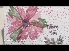 Beautiful You Easy Flower Note Cards Using Stampin'Up! Products - YouTube