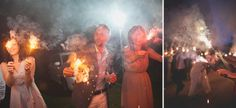 Cool sparkler send off to say good-bye to the bride and groom-   Tori + Matt's Laughter Filled Wedding: Heritage House Farm and Gardens