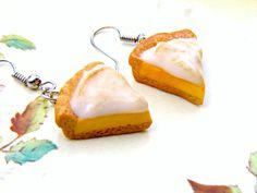 kawaii earrings | Kawaii Cake Earrings, Polymer Clay Pie Earrings, Polymer Clay Jewelry ...