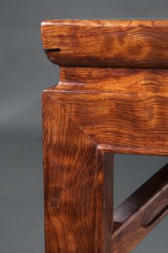 side joint of a bubinga table