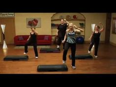 STEP AEROBICS 'STEP by STEP' 50 minute video on youtube by Jenny Ford