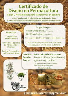 12-26 #Marzo, Proyecto Rúcula; Mula (Murcia)  Serán 14 días intensos de teoría y práctica en torno a los diversos temas que abarca el diseño...