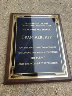 Personalized Award Plaque with Misty Border Employee Awards, Corporate Awards, Trophy Plaques, Award Plaques, Plaque Design, Sports Medals, Trophy Design, Franklin County, Walnut Finish