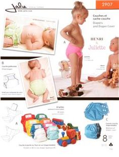Jalie Diapers & Diaper Cover Patten