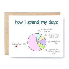 Mothers Day Gifts Diy Discover Funny Love Card - Funny Anniversary Card - Valentines Day Card - How I Spend My Days. Valentines Day Card Funny, Birthday Cards For Boyfriend, Funny Birthday Cards, Valentines Diy, Diy Anniversary Gifts For Him, Funny Anniversary Cards, Anniversary Ideas, Boyfriend Crafts, Diy Gifts For Boyfriend