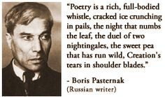 For more information about Boris Pasternak: http://www.Dailyliteraryquote.com/dlq-literature-magazine/  Courtesy of http://www.DailyLiteraryQuote.com.  More quotes and social literary discussions at CulturalBook.com