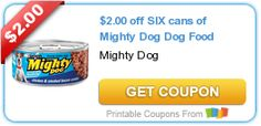 $2.00 off SIX cans of Mighty #Dog Dog Food #coupon