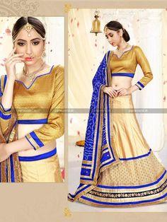Gold Silk Ethnic Designer Lehenga Choli