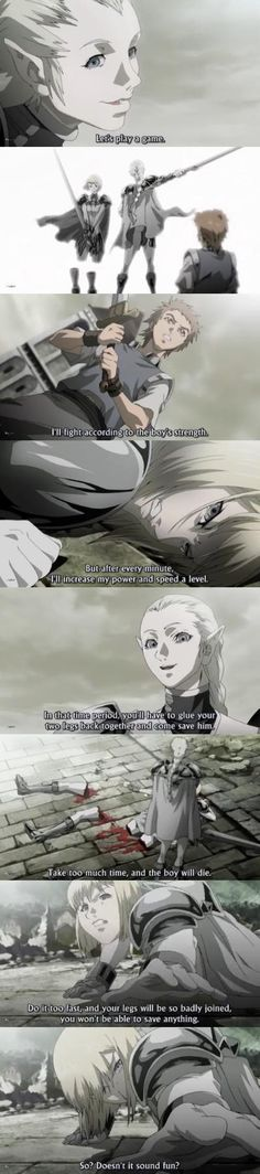 Day 24 - moment that shocked you the most in an anime: Clare vs Ophelia (Claymore episode 12)